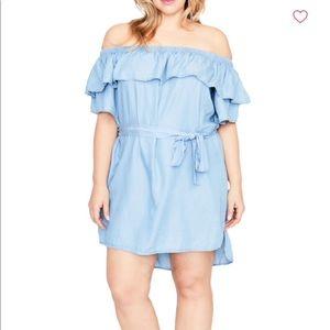 RACHEL Rachel Roy Curvy off the Shoulder Dress